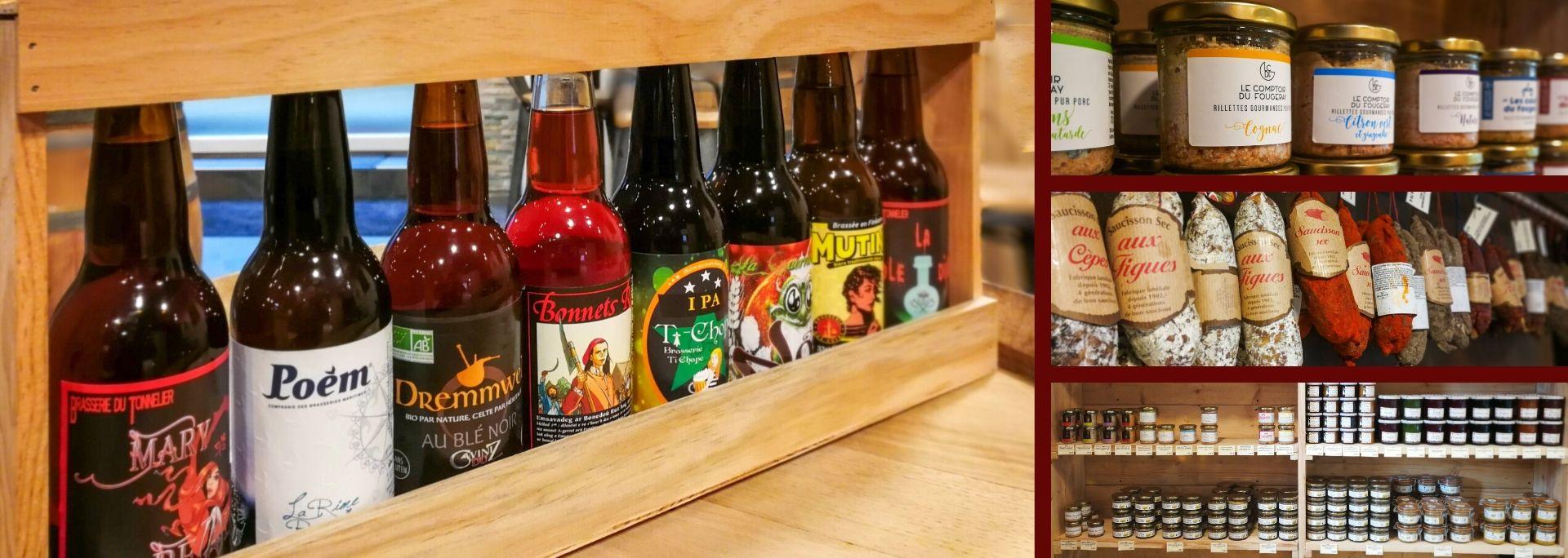Bières locales et épicerie fine